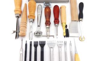 набор инструментов для работы с кожей