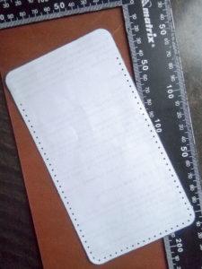выкройка чехла для телефона из кожи