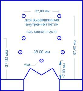 Шаблон для установки мебельной петли 26 мм