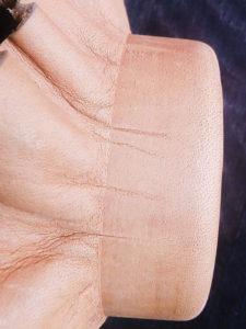 Формовка кожи хромового дубления