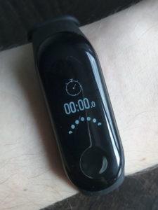 Xiaomi mi band 3 секундомер