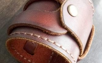 Широкий кожаный мужской браслет своими руками