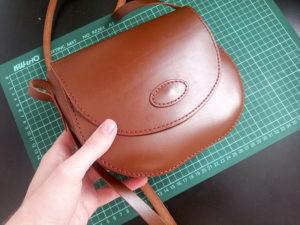 Женская сумка через плечо из натуральной кожи